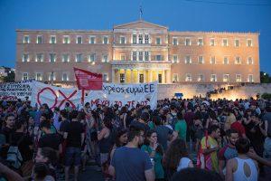 Demonstration gegen die Sparpolitik und das EU-Reformpaket in Athen im vergangenen Juli. Kietzmann,Björn/ Action Press/ picturedesk.com