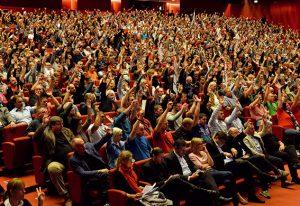 2.000 BetriebsrätInnen der Metallindustrie zeigten große Entschlossenheit bei der Konferenz in Wien. Bild: dwd