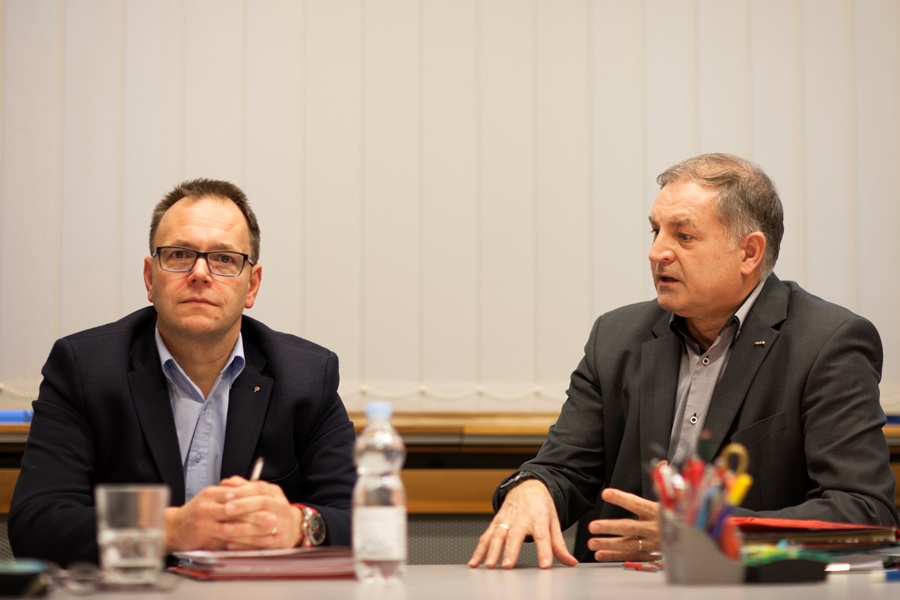 V.l.n.r. Reinhard Streinz, Herbert Kepplinger. Foto: Nurith Wagner-Strauss