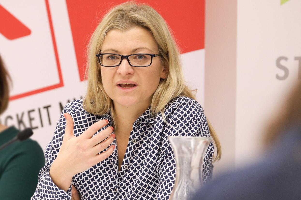 GPA-djp-Vorsitzende, Barbara Teiber, Foto: AK