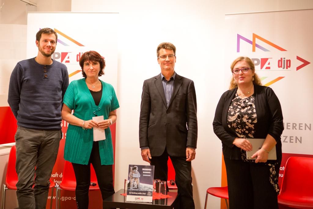 Dominik Klaus, Andrea Komar, Jörg Flecker, Verena Spitz Foto: Nurith Wagner-Strauss
